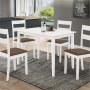 Conjunto Mesa + 4 Cadeiras Dallas